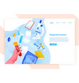 web banner template with hand holding test tube vector image vector image