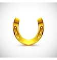 Golden horseshoe vector image