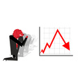 Red Bear prays for fall in rate of exchange Red vector image