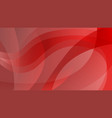 abstract bright red color wavy background vector image vector image