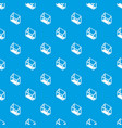 balcony window frame pattern seamless blue vector image vector image