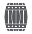 barrel glyph icon container and storage wooden vector image vector image
