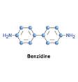 benzidine or biphenyl diamine vector image vector image