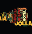 best hotels in la jolla text background word vector image vector image