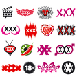 biggest collection of logos xxx vector image vector image