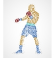 Boxer abstract athlete vector image vector image