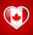 Canadian heart icon vector image vector image