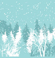 christmas card xmas winter forest greeting vector image vector image