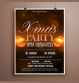 christmas flyer design card template with balls vector image vector image