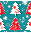 Christmas tree pattern vector image vector image