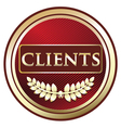 Clients Red label vector image vector image