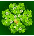 Clover glade in the shape of quatrefoil vector | Price: 1 Credit (USD $1)