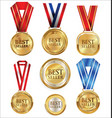 collection of best seller golden medal and label vector image vector image