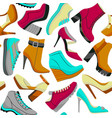 colorful seamless shoe pattern vector image vector image
