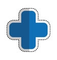 cross medical isolated icon vector image vector image