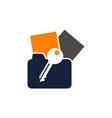 Data protection logo design template