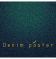Denim poster vector image