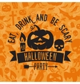 Eat drink and be scary vector image vector image