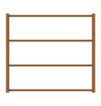 empty wooden storage shelves vector image vector image