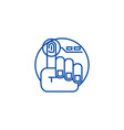finger print line icon concept finger print flat vector image