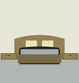 Flat Design Double Bedroom vector image vector image