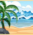flat summer beach landscape vector image vector image