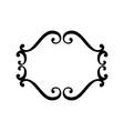 flourish vintage frame swirl vector image vector image