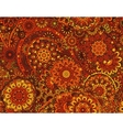 flower paisley seamless ethnic pattern vector image