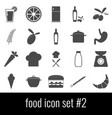 food icon set 2 gray icons on white background vector image