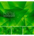 fractal green vector image