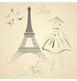 French retro style vector image vector image