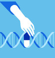 genetic engineering crispr cas9 gene editing vector image vector image