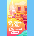 go travel and see world typography banner vector image