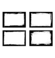 grunge frames isolated black borders set vector image vector image