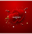 happy valentines day realistic 3d decoration vector image vector image