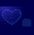 heart symbol of love from futuristic polygonal vector image vector image