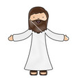holy jesuschrist character icon vector image vector image