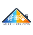 house air conditioner symbol vector image vector image
