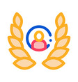 human laurel icon outline vector image vector image