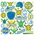 icon and badge set baseball and softball vector image