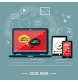 Icons for web design seo social media vector image vector image