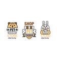 logo for pet premium shop or store set vector image vector image