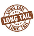 long tail brown grunge stamp vector image vector image