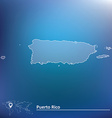 Map of Puerto Rico vector image vector image