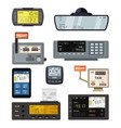 modern and retro taximeters set accurate vector image vector image