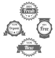 Modern flat shop badges tags stamps vector image vector image