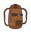 packback travel bag tourist vector image vector image