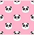 panda bear cute funny cartoon pattern seamless vector image vector image