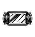 portable gaming console vector image vector image