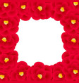 red camellia flower border vector image vector image